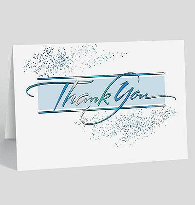 Contemporary Thank You Card