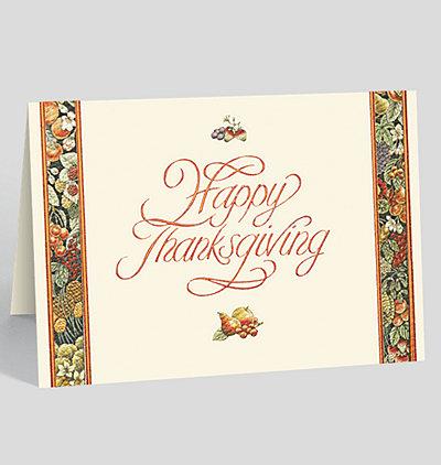Thanksgiving Bounty Holiday Card