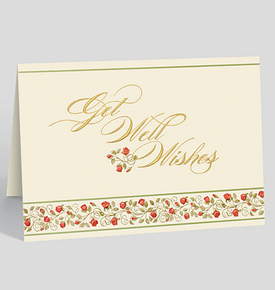 Get Well Rose Garden Card