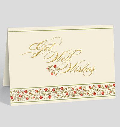 Get Well Rose Garden Card