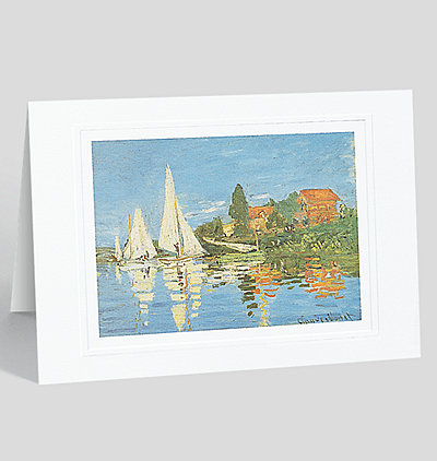 Boat Race at Argenteuil Greeting Card