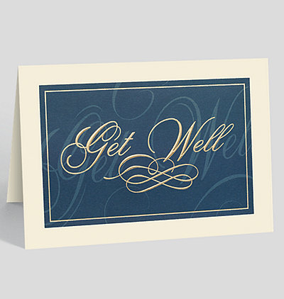 Classically Elegant Get Well Card
