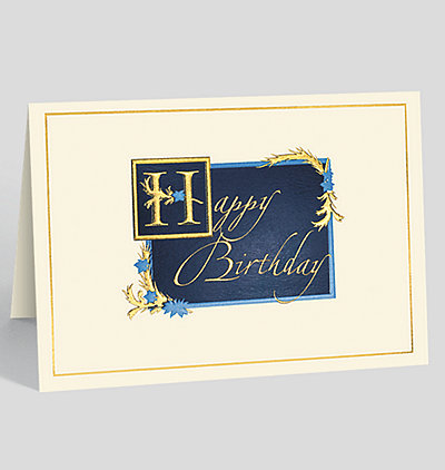 Gilded Birthday Wishes Card