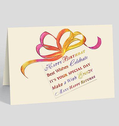 Birthday Expression Card