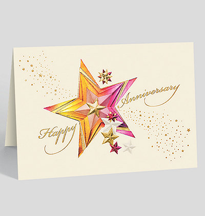 Sparkling Stars Anniversary Card