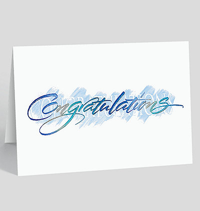 Contemporary Congratulations Card