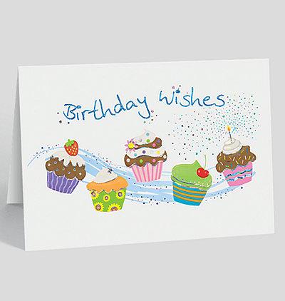 Cupcake Sparkle Birthday Card