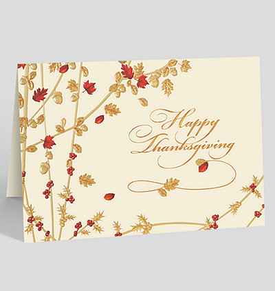 Thanksgiving Branches Holiday Card