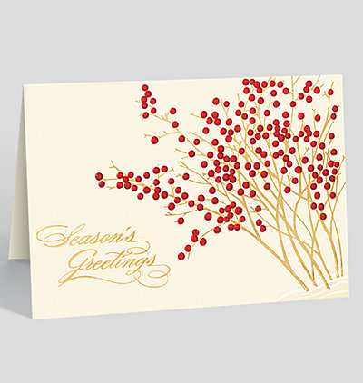 Frosty night seasons greeting card 300071 business christmas cards seasons greetings berry garden holiday card m4hsunfo