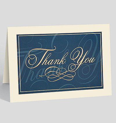 Classically Elegant Thank You Card
