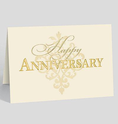 Anniversary Fleur-de-lis Card