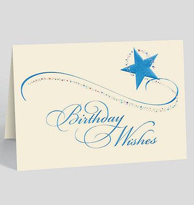 Starburst Birthday Wishes Card