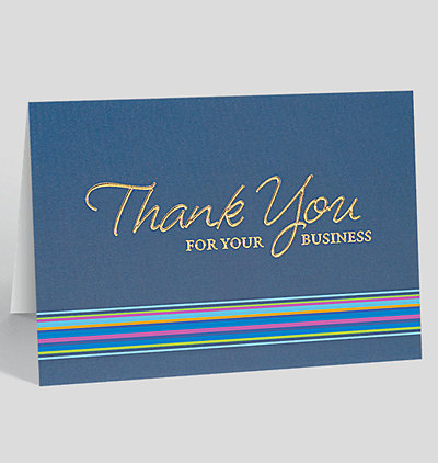 Thank you cards the gallery collection thank you for your business card colourmoves