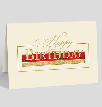 Stately Birthday Greetings Card
