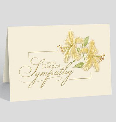 Deepest Sympathy Lilies Card