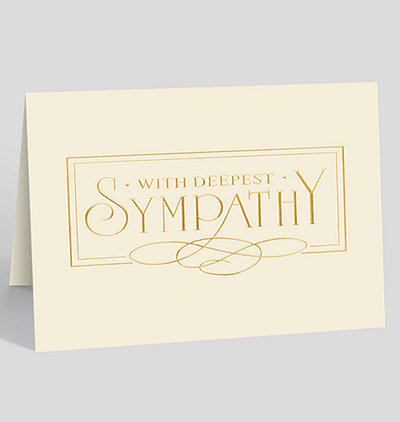With Deepest Sympathy Elegance Card