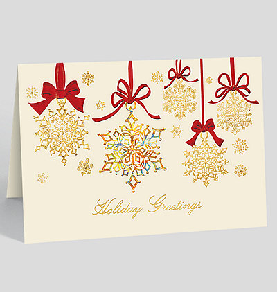 Snowflake Sparkle Card