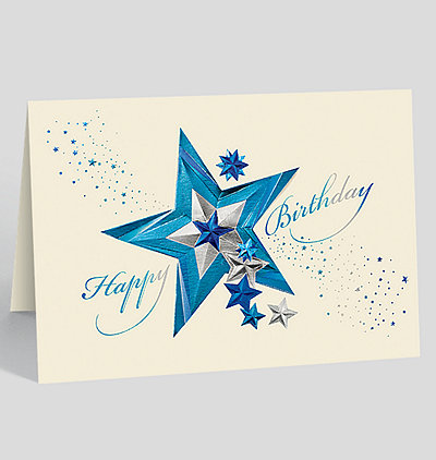 Star Studded Birthday Card