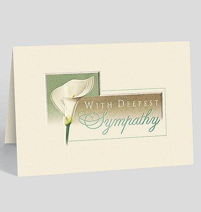 Lily Sympathy Card