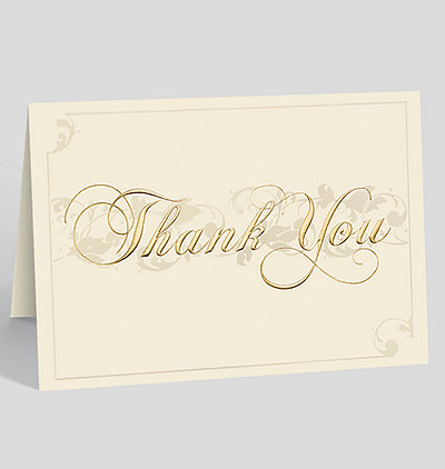 Filigree Thank You Card