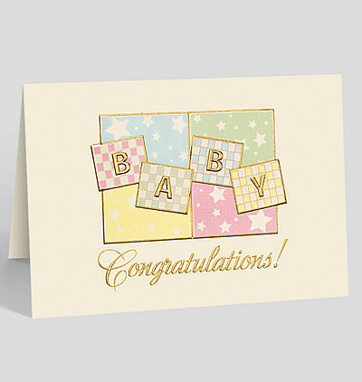 baby congrats greeting card
