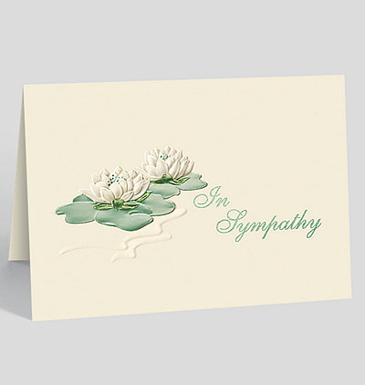 Sympathy Water Lilies Greeting Card