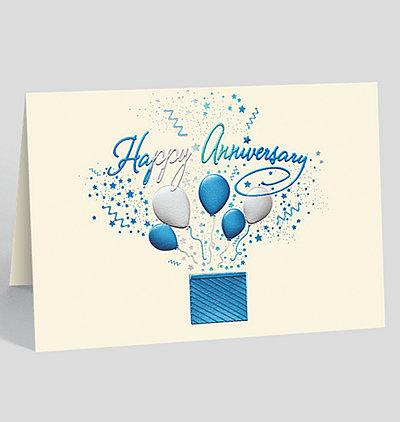 Bursting Anniversary Wishes Card