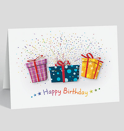 Birthday Explosion Greeting Card