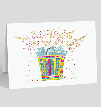 Gift Bag Wishes Birthday Card
