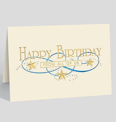 Gold Star Birthday Card