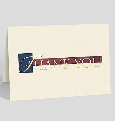 Distinctive Thank You Card