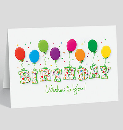 Business birthday cards with balloons birthday greeting cards birthday bounce greeting card bookmarktalkfo Choice Image