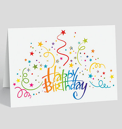 Employee birthday cards the gallery collection birthday burst greeting card m4hsunfo