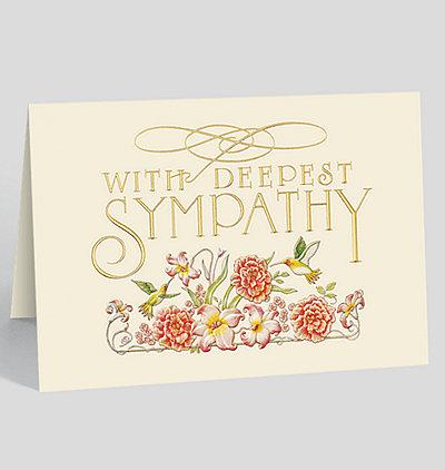 Garden Sympathy Card