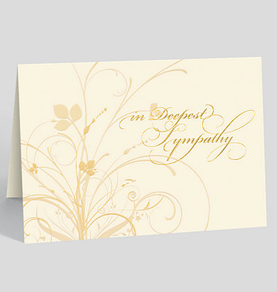 Graceful Expression Sympathy Card