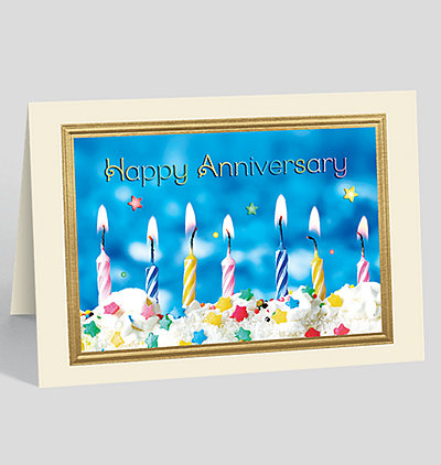 Anniversary Flare Greeting Card