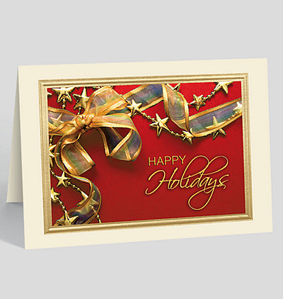 Holiday Ribbon and Stars Card