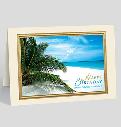 Birthday Paradise Greeting Card