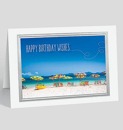 Blue Skies Birthday Card
