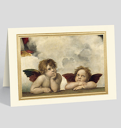 The Sistine Madonna, detail Christmas Card