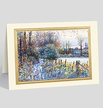 Cramenil Winter, Normandie, France Greeting Card