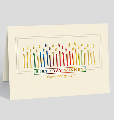 Candles and Wishes From All Birthday Card