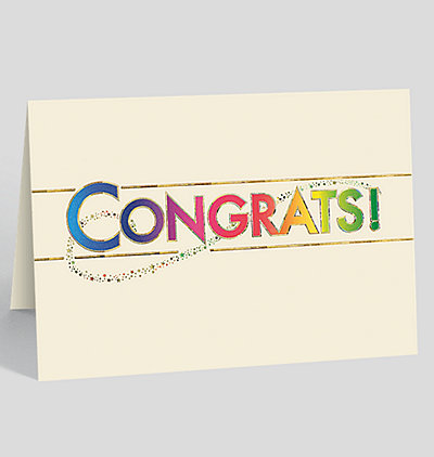 Starry Congrats Card
