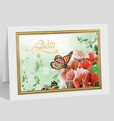 Butterfly Garden Sympathy Card