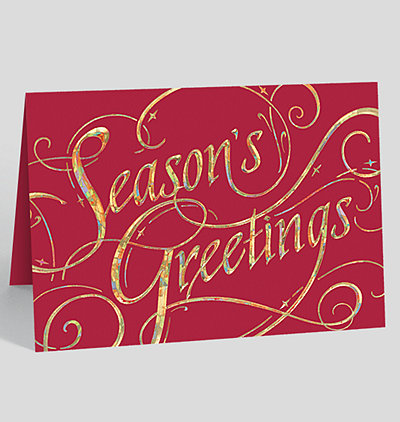 Environmentally friendly christmas cards and business holiday cards seasons greetings pizazz holiday card m4hsunfo