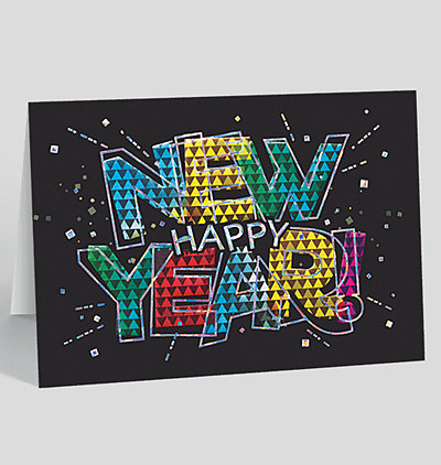 prism new year card