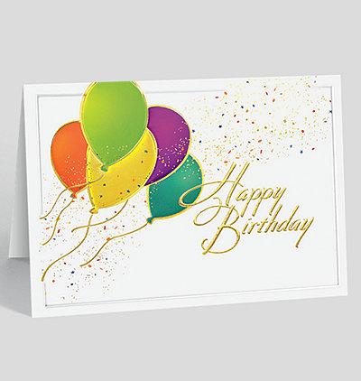 Balloons Aloft Birthday Card