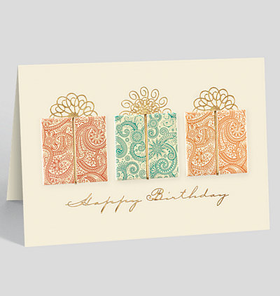 Paisley Presents Birthday Card