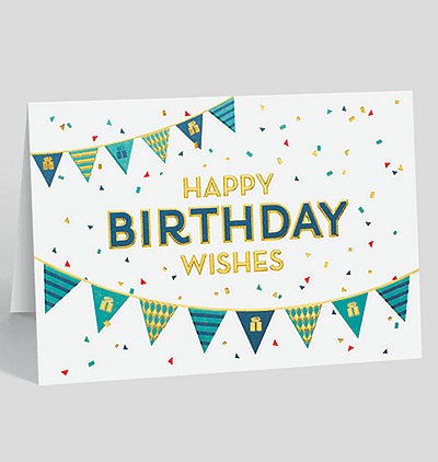 Business Birthday Greeting Cards With Present Themes