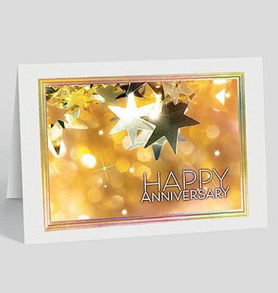 Shining Anniversary Card